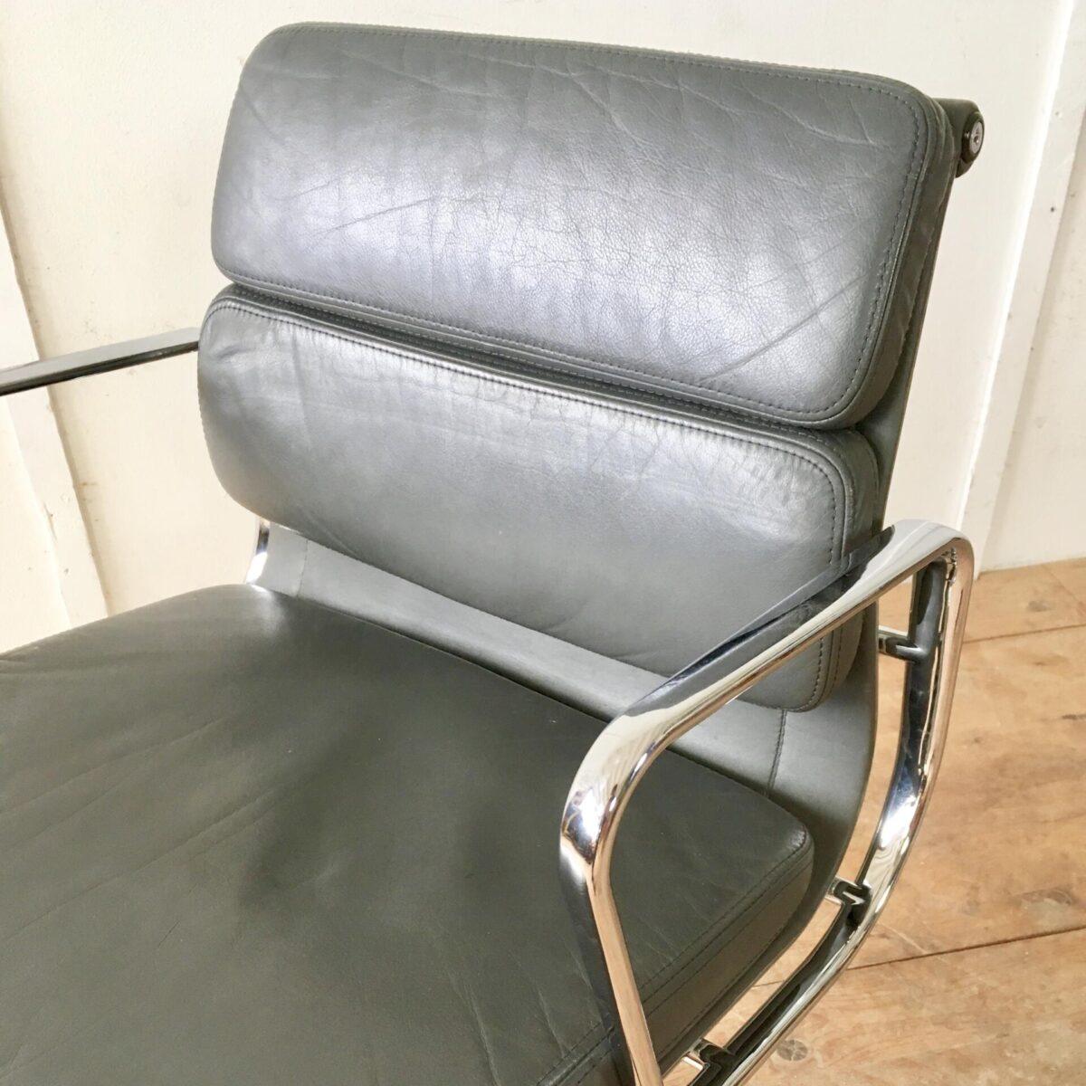 Hermann Miller chair Bürostuhl Drehstuhl. Vitra soft pad ea 208 sitzungsstuhl, Ledersessel grau antrazith.