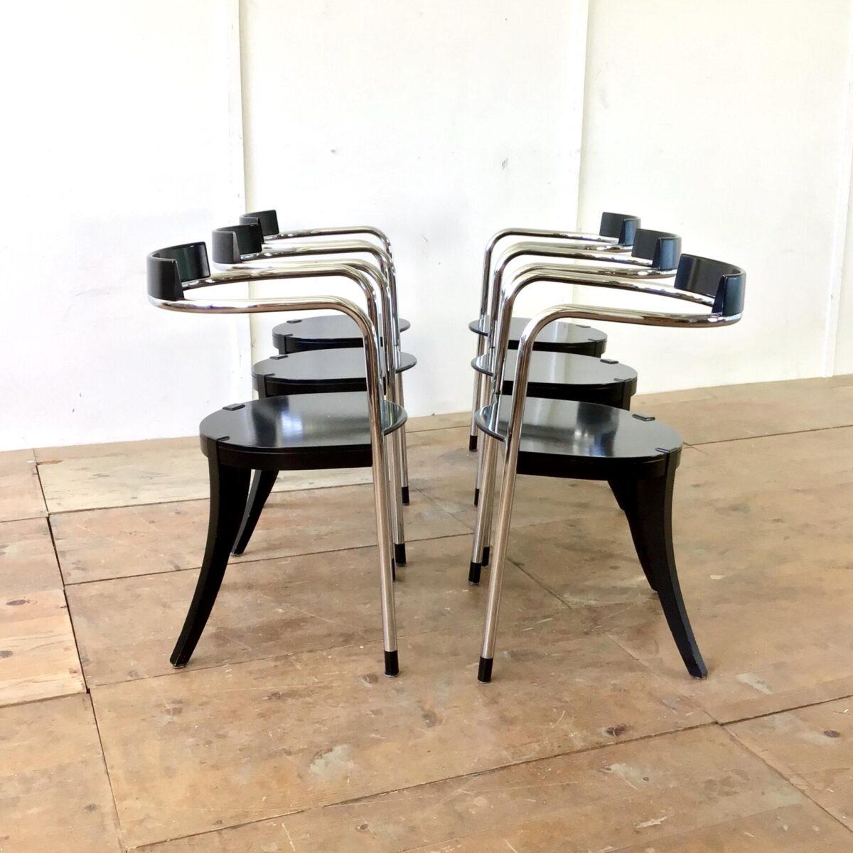 deuxieme.shop 6er Set Fauno Stühle von David Palterer für Zanotta.