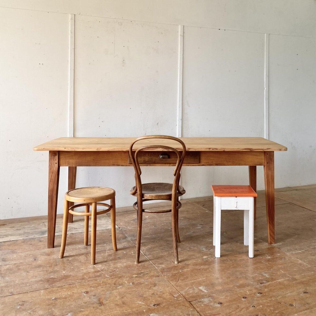 Deuxieme.shop Esstisch Holztisch alter Biedermeiertisch massivholz Tisch